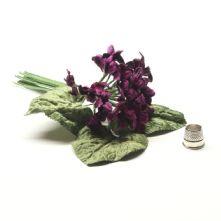 Vintage Posy of Mauve Velvet Violets Hat Trim